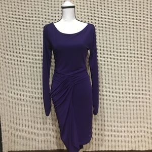 BCBG Purple long sleeve Dress Size S-M